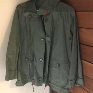 J. Crew olive green utility jacket size 6